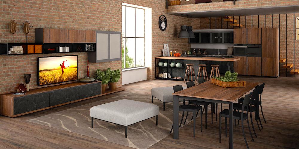 Stile industriale in cucina parola d ordine eleganza for Salotto stile industriale