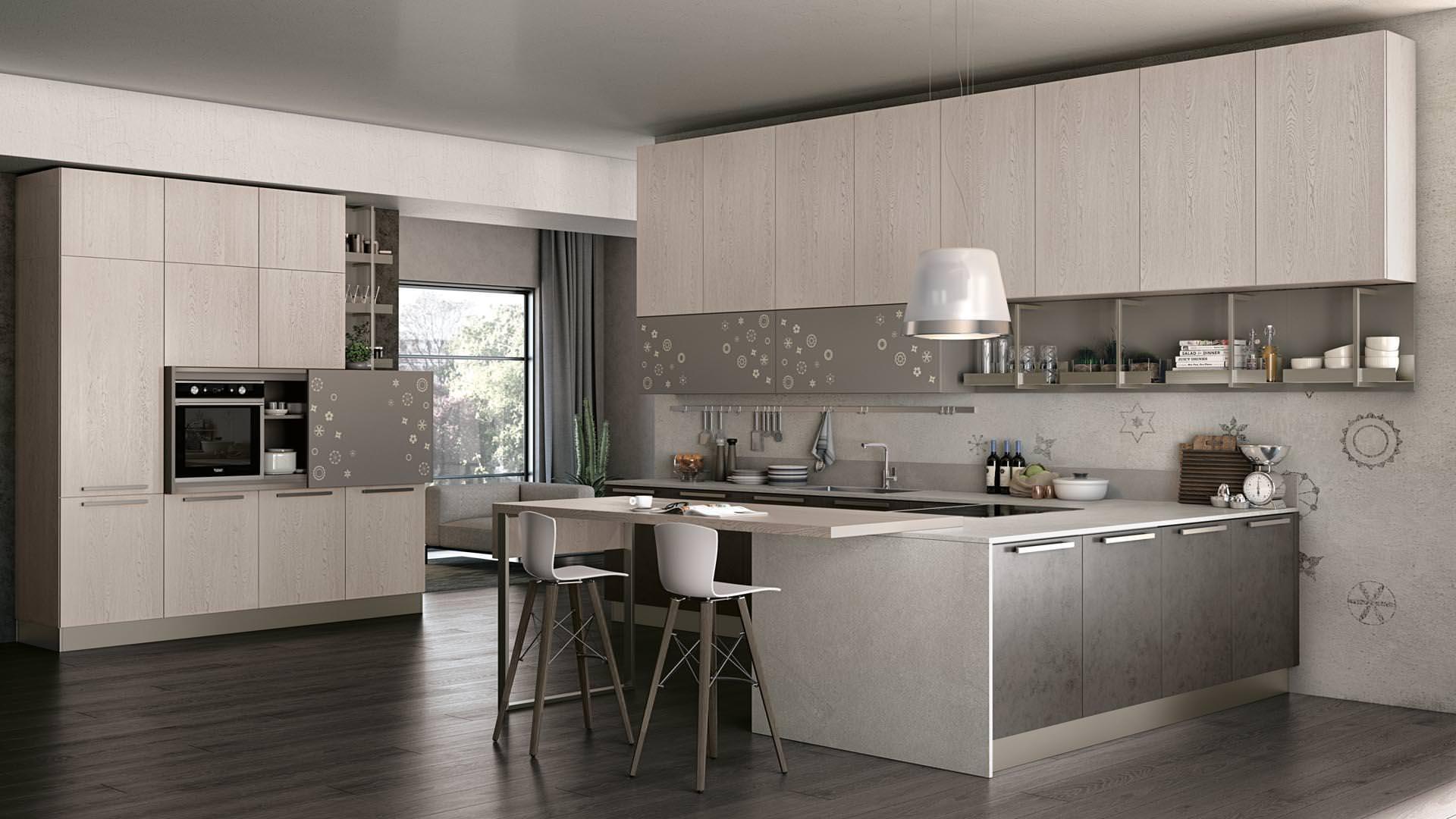 Novità Cucine moderne a Bari, ecco la collezione LUBE CLOVER BRIDGE ...