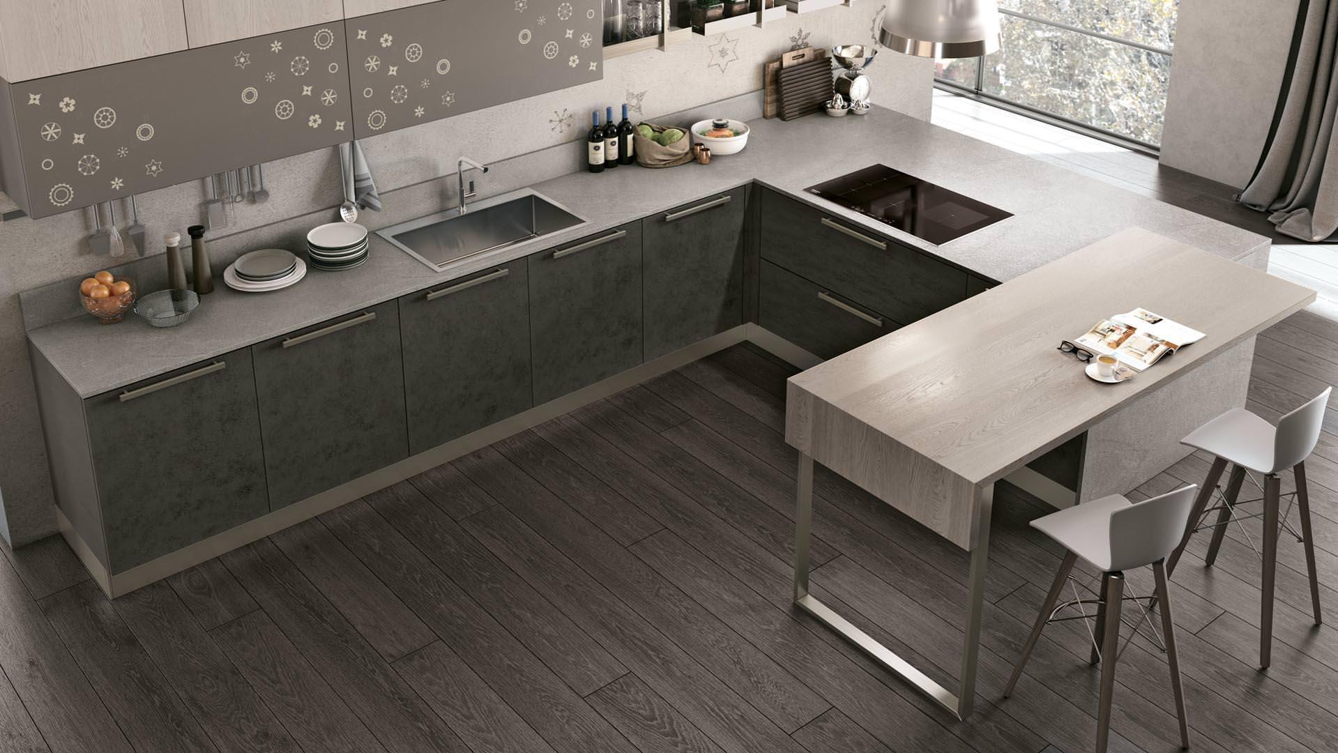 novità cucine moderne a bari, ecco la collezione lube clover ... - Cucine Moderne Bari