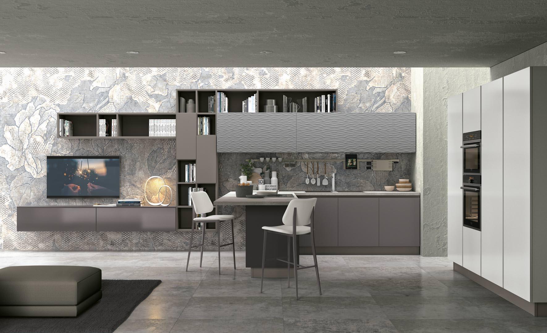 novità cucine moderne a bari, ecco la collezione lube clover lux ... - Cucine Moderne Bari