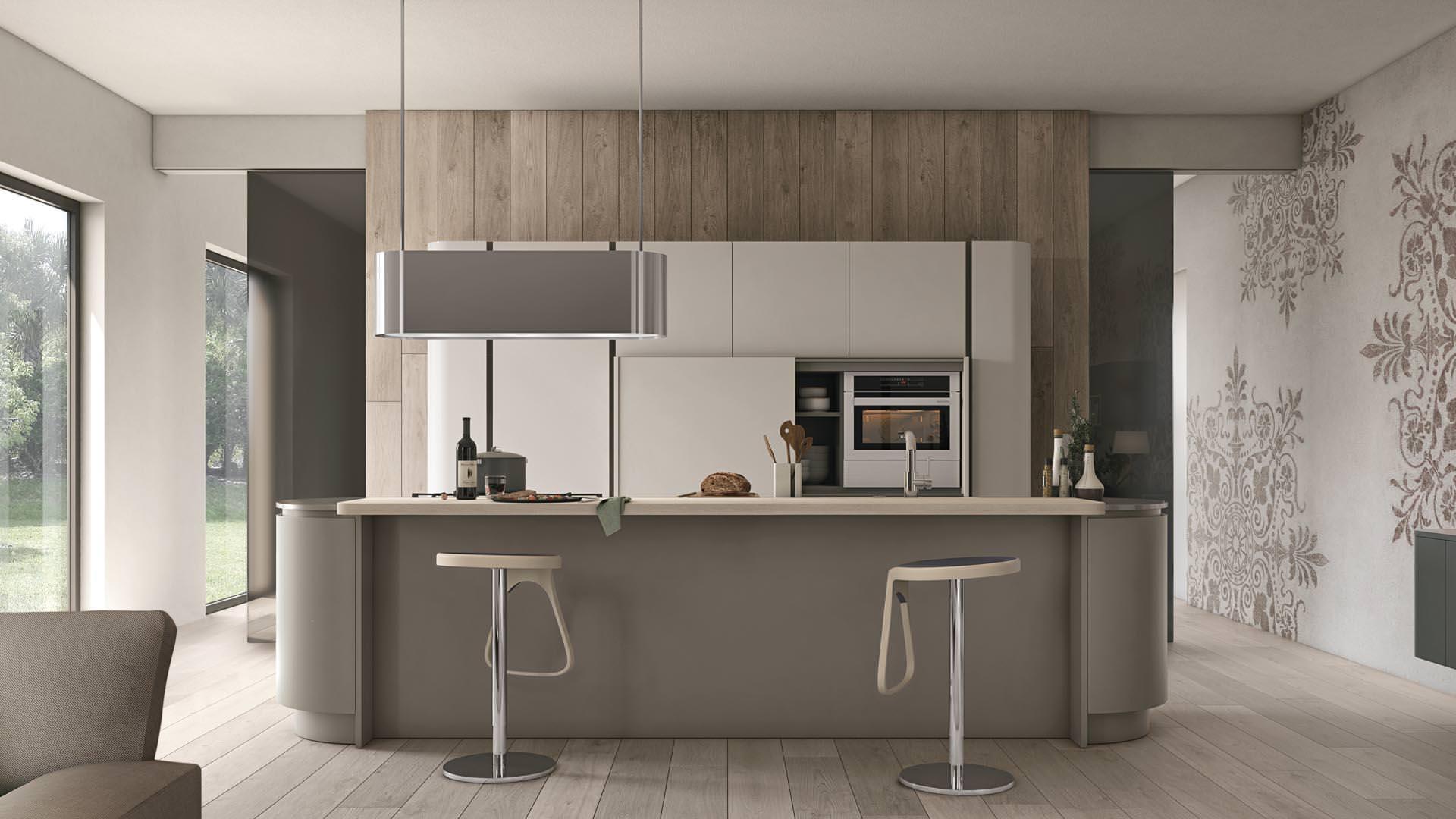 Novit cucine moderne a bari ecco la collezione lube clover neck rafaschieri arredamenti - Lube cucine moderne ...