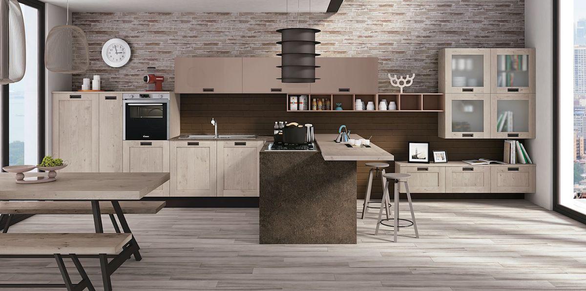 Cucina kyra telaio di creo kitchens caratterizza l for Cucina living