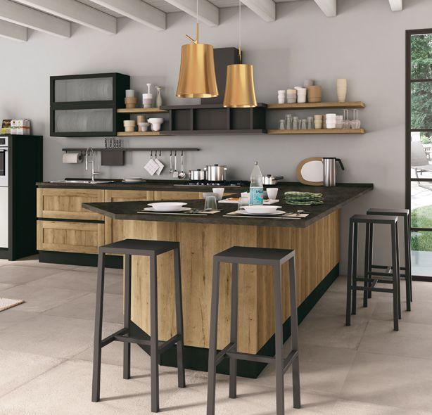 Cucina kyra telaio di creo kitchens caratterizza l ambiente cucina e living in modo - Cucina lube kyra ...