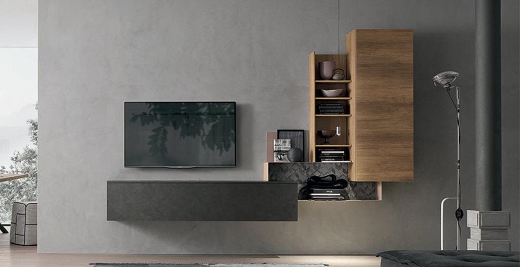 mobili per un soggiorno moderno: idee e soluzioni componibili ... - Soggiorno Moderno Tomasella 2