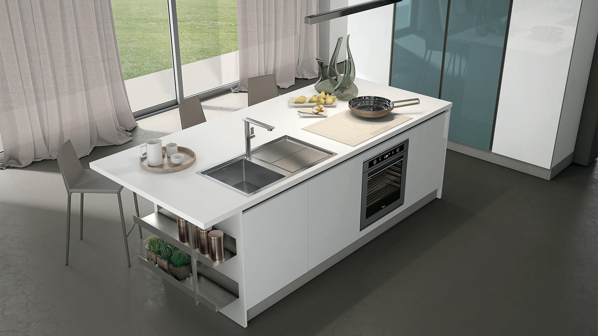 Cucine con isola lube1 rafaschieri arredamenti - Cucine moderne con isola lube ...