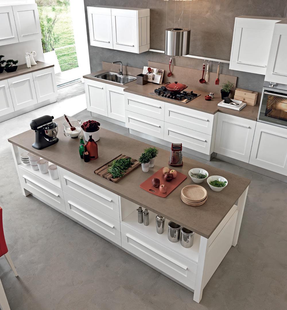 Cucine con isola lube8 rafaschieri arredamenti - Cucine con isola lube ...
