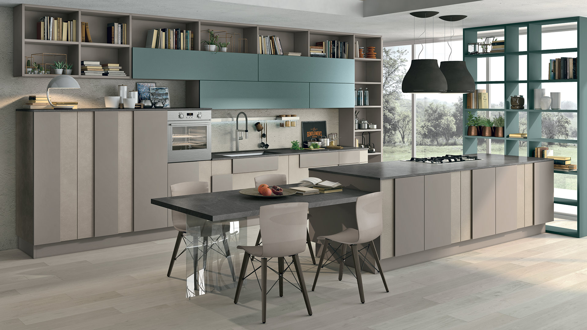 Cucine con isola lube9 rafaschieri arredamenti - Cucine con isola lube ...