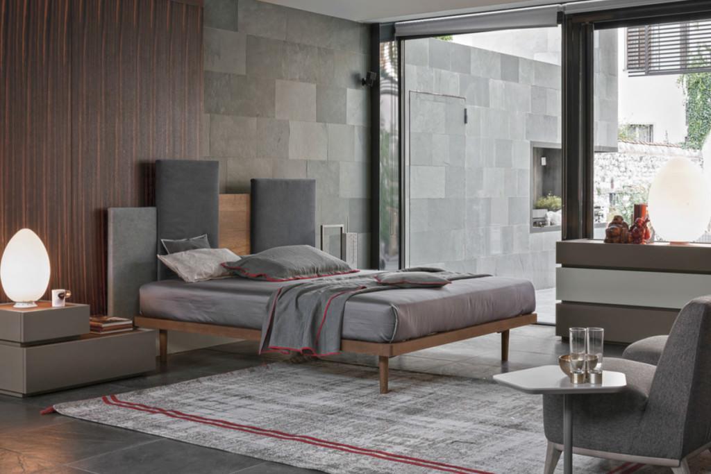 Letti matrimoniali imbottiti di gruppo tomasella personalizzabili e dal design moderno e - Tomasella camere da letto ...