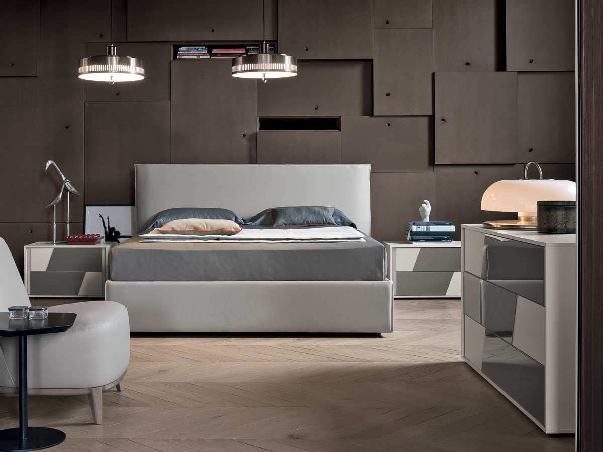 Letti matrimoniali imbottiti di gruppo tomasella personalizzabili e dal design moderno e - Tomasella camera da letto ...