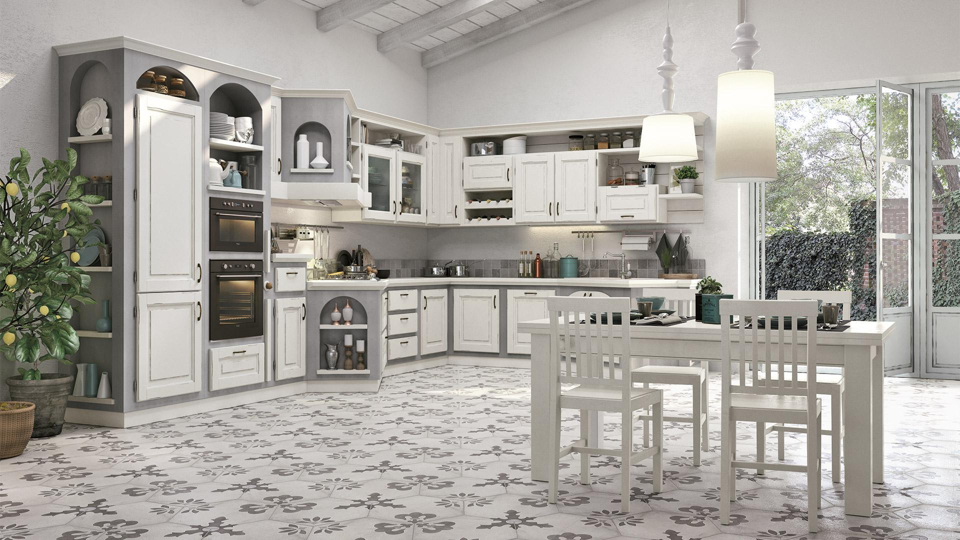 Cucina lube classica contemporanea onelia 10 rafaschieri - Cucina classica contemporanea ...