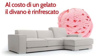Promo Doimo - Il divano è rinfrescato al costo di un gelato!