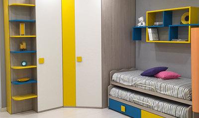 Cameretta julia con cabina armadio e letti scorrevoli for Cabina armadio outlet