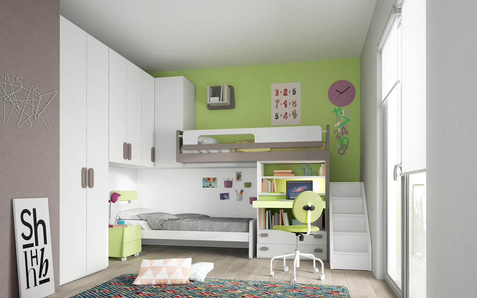 Camerette salvaspazio 2 letti camerette ponte mondo - Ikea bari camerette ...