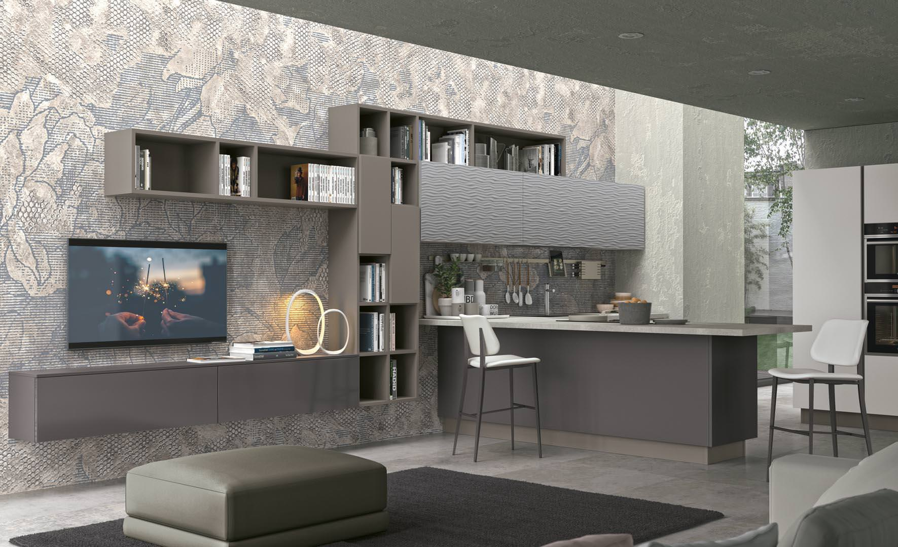 Cucina lube clover lux l 39 ergonomica forma dell anta rafaschieri arredamenti - Cucine lube 2017 ...