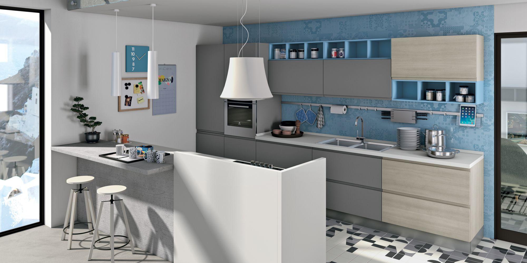 Cucina jey di creo kitchens stile e design essenziale con maniglie integrate nelle ante - Maniglie per ante cucina ...