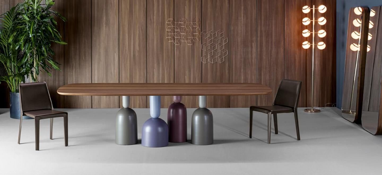 Divano E Tavolo Insieme collezione tavoli bonaldo - dinamismo creativo per una zona