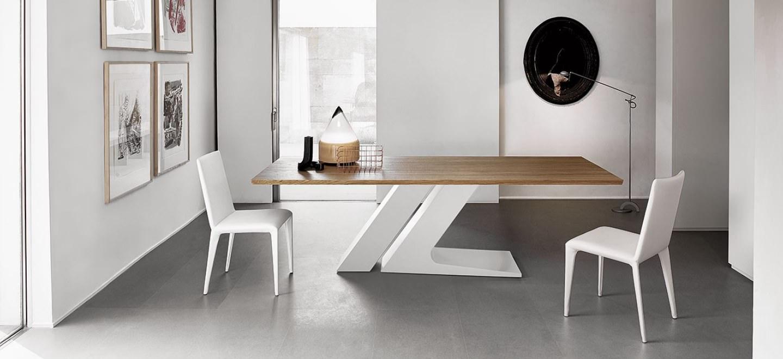 Tavolo Con Gamba Centrale Allungabile collezione tavoli bonaldo - dinamismo creativo per una zona