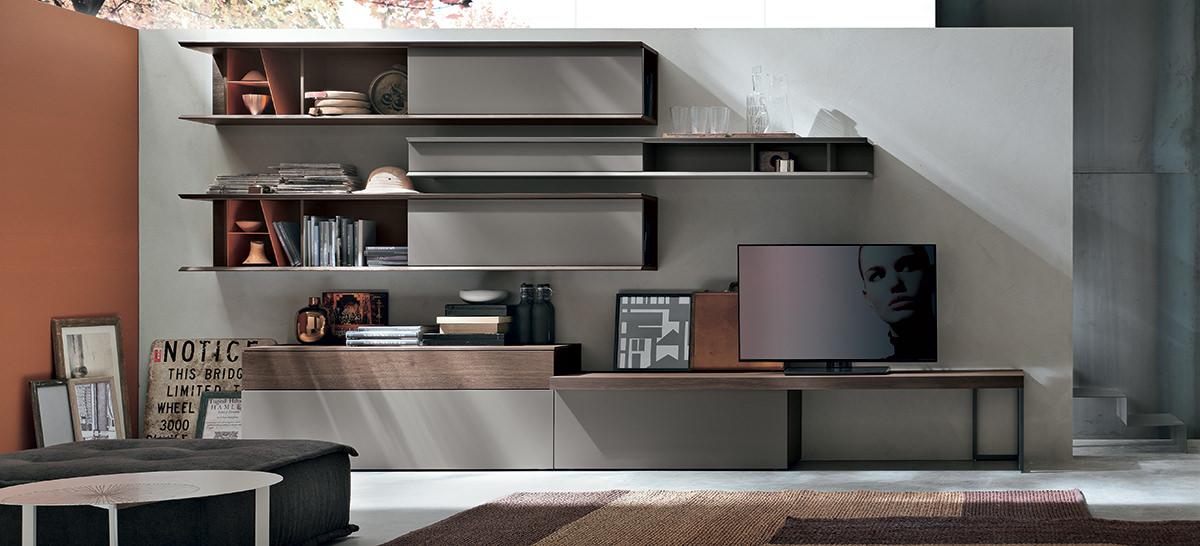 Mobili per un soggiorno moderno idee e soluzioni for Composizione soggiorno moderno