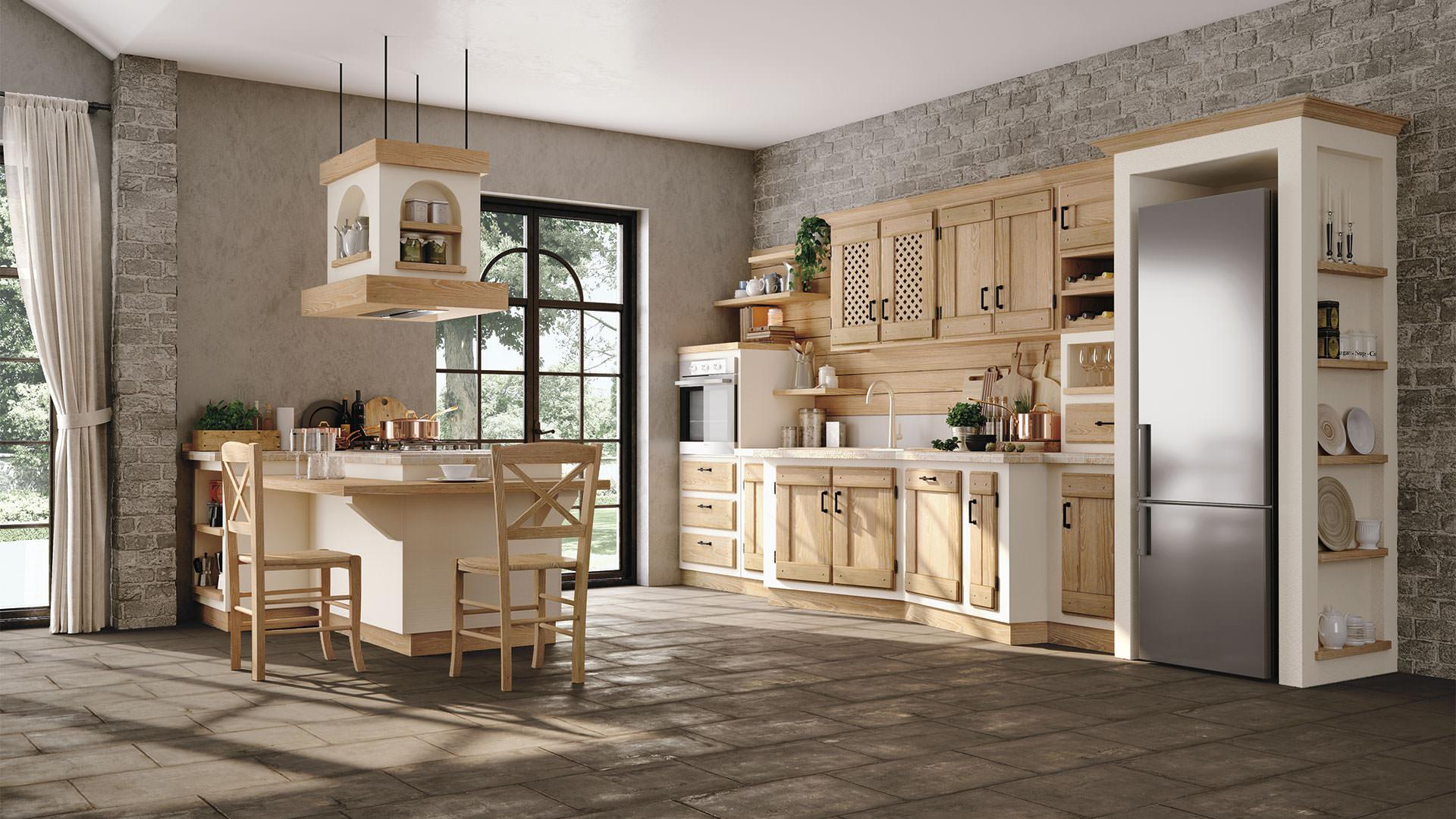 Cucine contemporanee LUBE - collezione \'Borgo Antico\' - i sapori e i ...