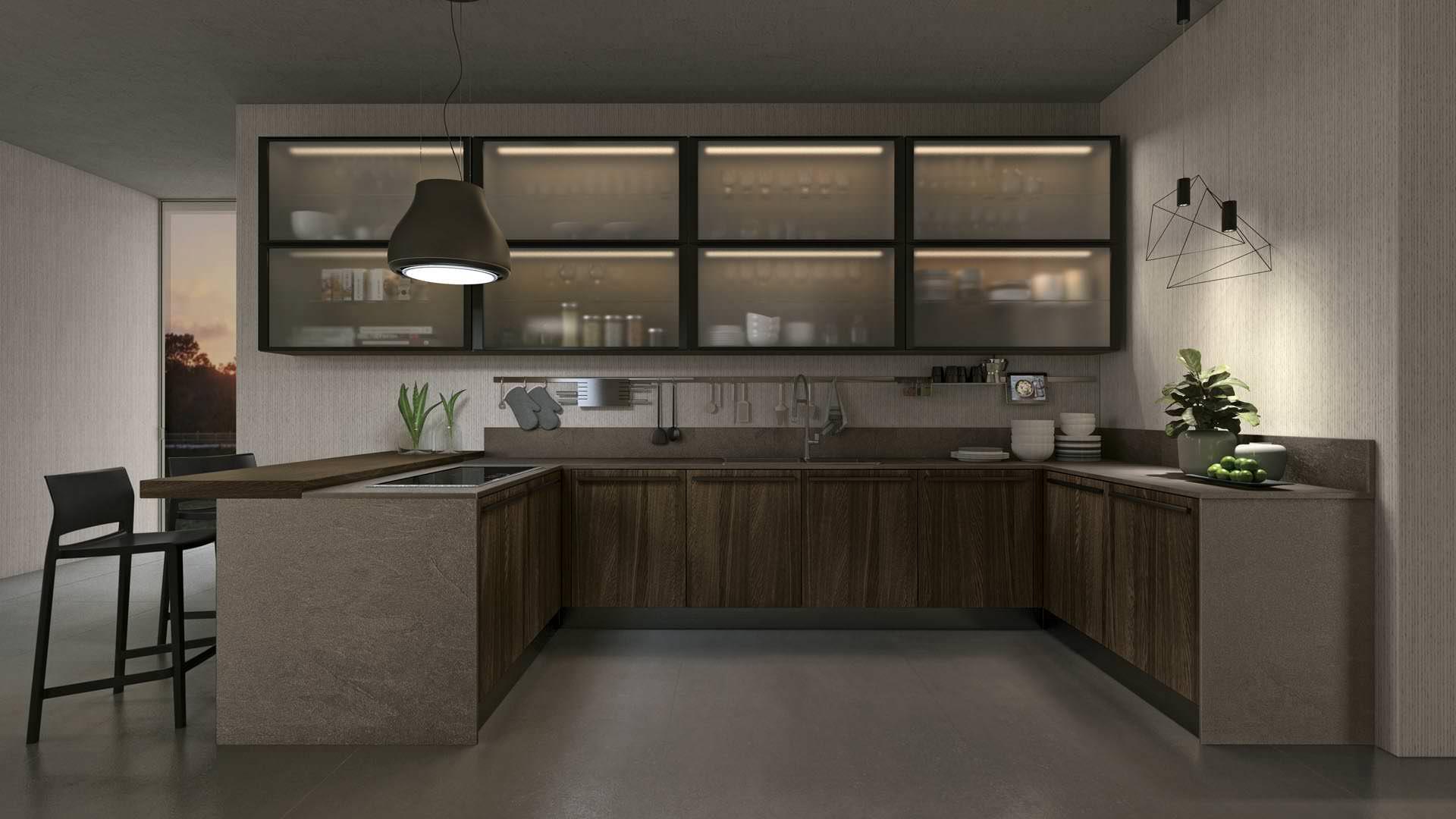 I colori in cucina le tonalit da scegliere in base al for Cucine moderne scure