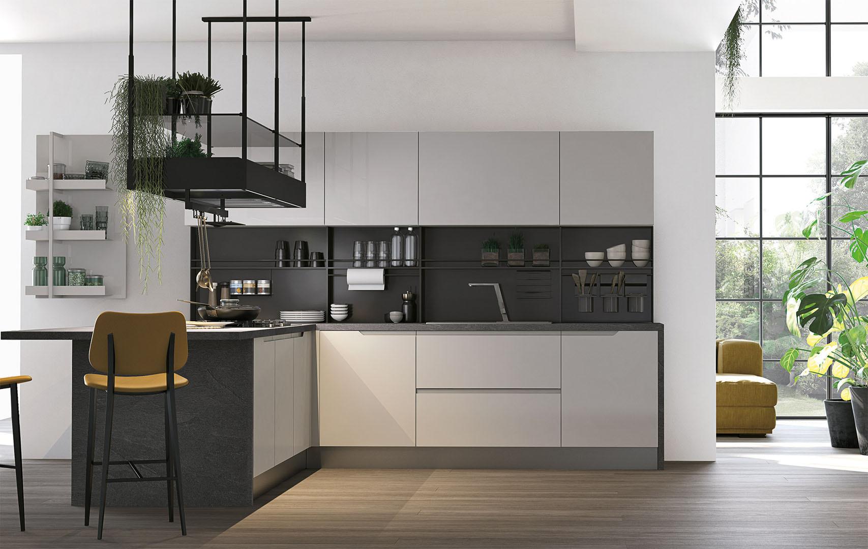Cucina moderna lube luna estrema eleganza e praticit for Cucina moderna 2018 pdf