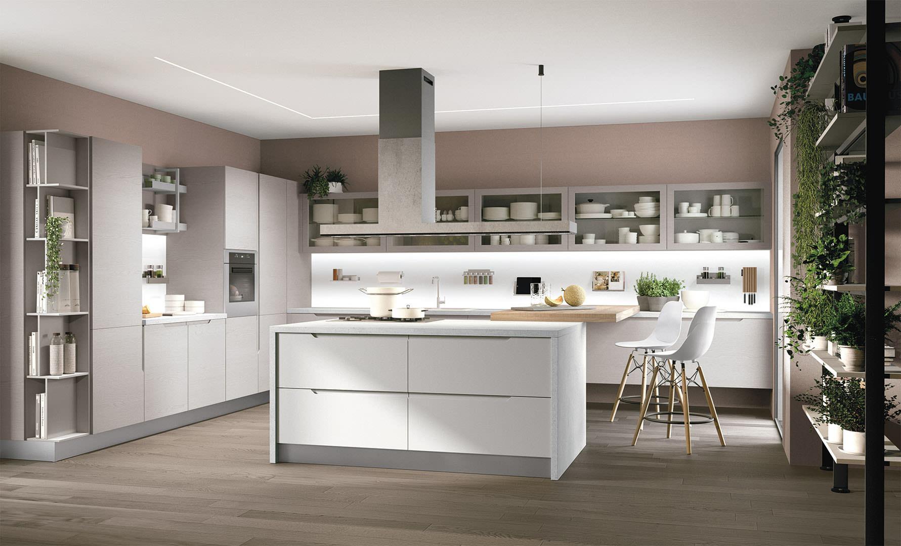 Cucina moderna LUBE LUNA - estrema eleganza e praticità ...