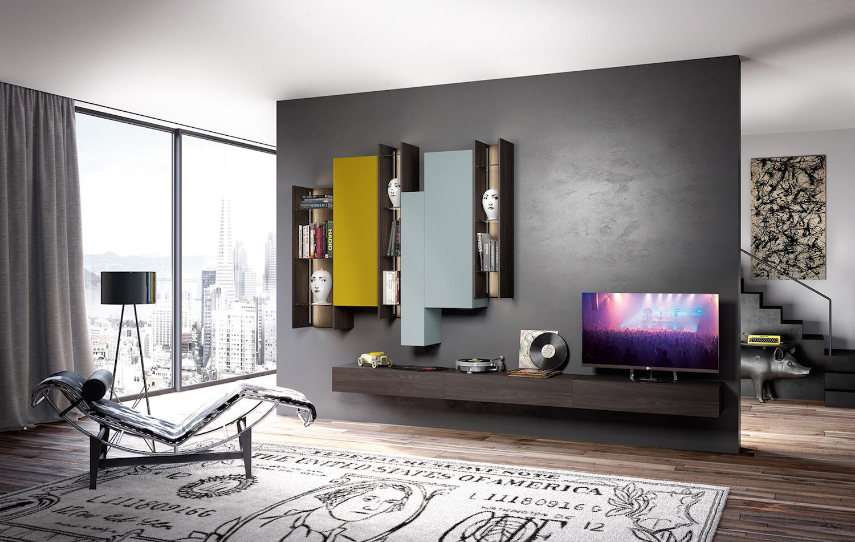 Soggiorni moderni: Sky 2.0 by Astor Mobili, gusto pratico ed ...