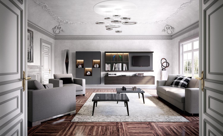 Angolo Tv Moderno soggiorni moderni: sky 2.0 by astor mobili, gusto pratico ed