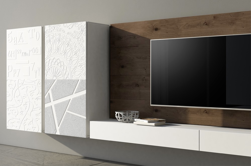 Idee Per Mobili Tv.Idee Per Un Soggiorno Moderno Ecco Le Soluzioni By Voltan Per