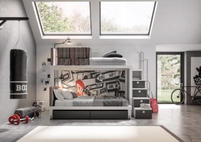 Camere per bambini e ragazzi 'TIRAMOLLA' by Tumidei - Young Design System - PT. 1/2